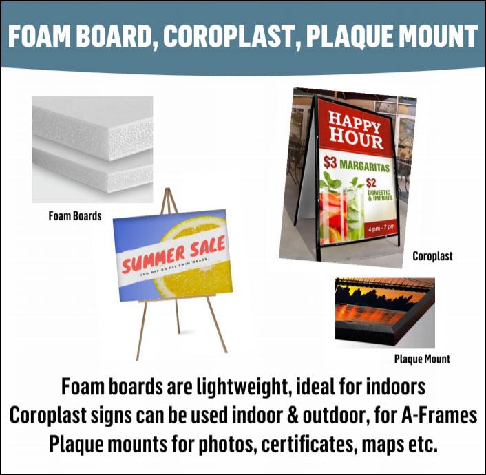 Foam Board & Coroplast