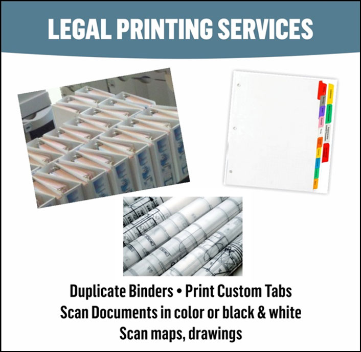 Legal Printing Services