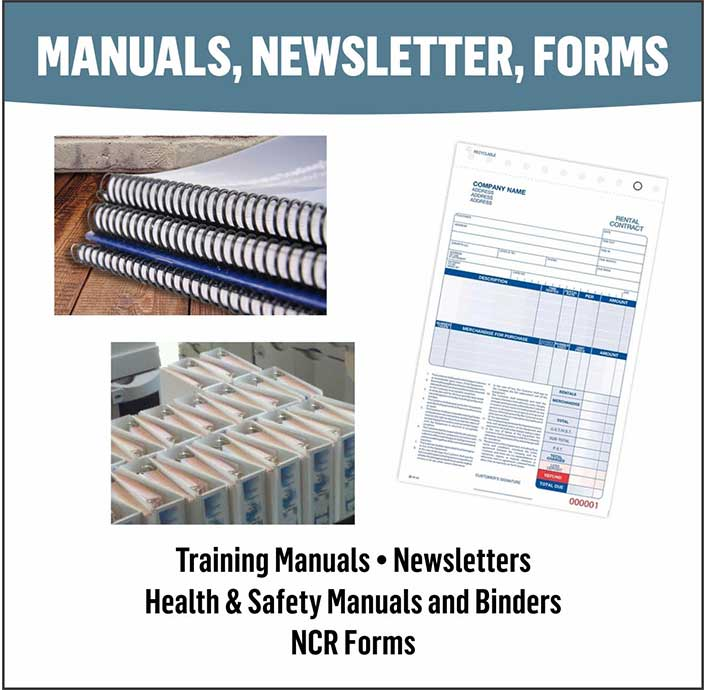 Manuals, Newsletters, NCR Forms