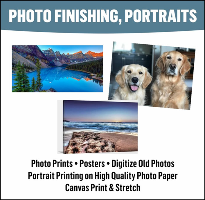 Portraits & Photo Printing/Finishing