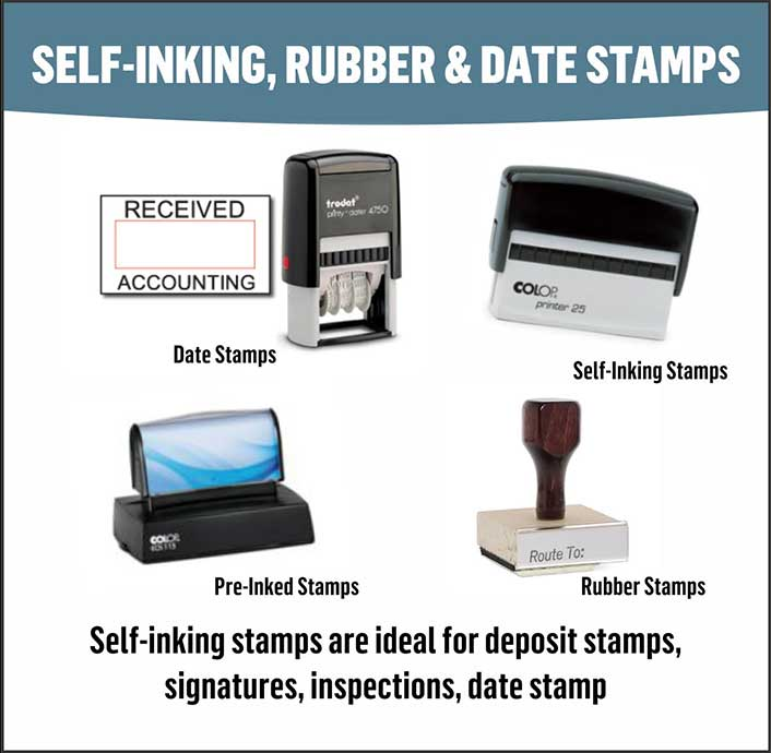 Custom Self-inking Rubber & Date Stamps