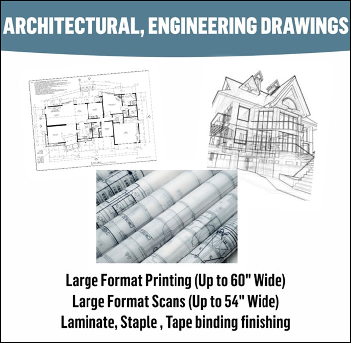 Wide Format Architectural, Engineering Drawings